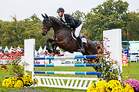 NZL-Jesse Campbell rides Global Candy Boy during the Showjumping for the CCI2*-L6YO. 2019 FRA-Mondial du Lion - FEI World Breeding Championships. Le Lion d'Angers. France. Sunday 20 October. Copyright Photo: Libby Law Photography