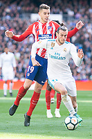 Real Madrid Gareth Bale and Atletico de Madrid Lucas Hernandez during La Liga match between Real Madrid and Atletico de Madrid at Santiago Bernabeu Stadium in Madrid, Spain. April 08, 2018. (ALTERPHOTOS/Borja B.Hojas) /NortePhoto NORTEPHOTOMEXICO