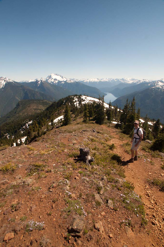 Joe on the Way Down Desolation Peak, North Cascades National Park, Washington, US