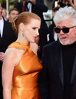 www.acepixs.com<br /> <br /> May 23 2017, Cannes<br /> <br /> Jury member Jessica Chastain and Pedro Almodovar arriving at the 70th Anniversary of the annual Cannes Film Festival at Palais des Festivals on May 23, 2017 in Cannes, France.<br /> <br /> By Line: Famous/ACE Pictures<br /> <br /> <br /> ACE Pictures Inc<br /> Tel: 6467670430<br /> Email: info@acepixs.com<br /> www.acepixs.com