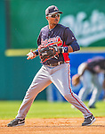 11 March 2013: Atlanta Braves infielder Elmer Reyes warms up prior to a Spring Training game against the Washington Nationals at Space Coast Stadium in Viera, Florida. The Braves defeated the Nationals 7-2 in Grapefruit League play. Mandatory Credit: Ed Wolfstein Photo *** RAW (NEF) Image File Available ***