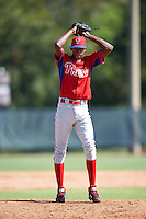 Philadelphia Phillies pitcher Manuel Silva (87) during an Instructional League game against the Toronto Blue Jays on October 1, 2016 at the Carpenter Complex in Clearwater, Florida.  (Mike Janes/Four Seam Images)