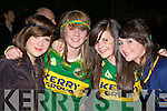 Nicola Hughes, Shona Guerin, Maryan Lucid and Michaela Looney enjoying the Kerry homecoming in Killarney on Monday.