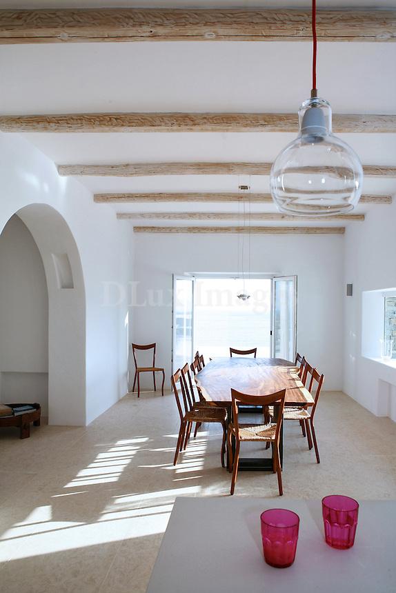 wooden dining room