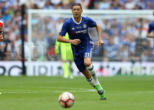 May 27th 2017, Wembley Stadium, London England;  FA Cup Final, Arsenal versus Chelsea FC; Nemanja Matic of Chelsea in action