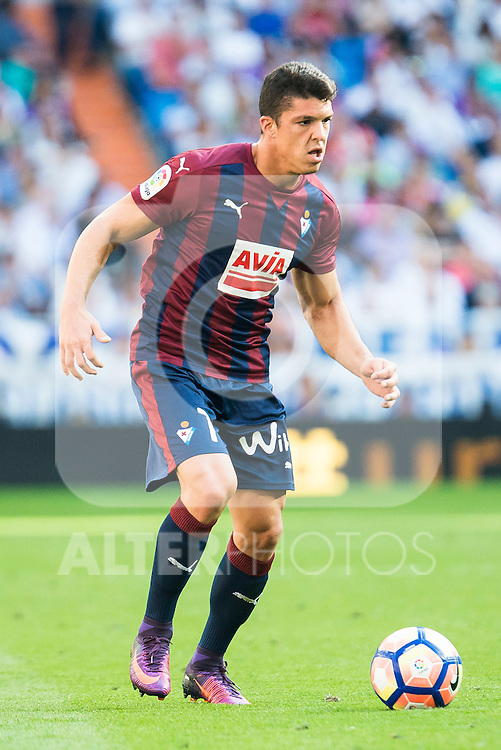 Eibar FC's player Ander Capa during a match of La Liga Santander at Santiago Bernabeu Stadium in Madrid. October 02, Spain. 2016. (ALTERPHOTOS/BorjaB.Hojas)