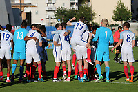 England players celebrate winning the Tournament at the final whistle during England Under-18 vs Ivory Coast Under-20, Toulon Tournament Final Football at Stade de Lattre-de-Tassigny on 10th June 2017