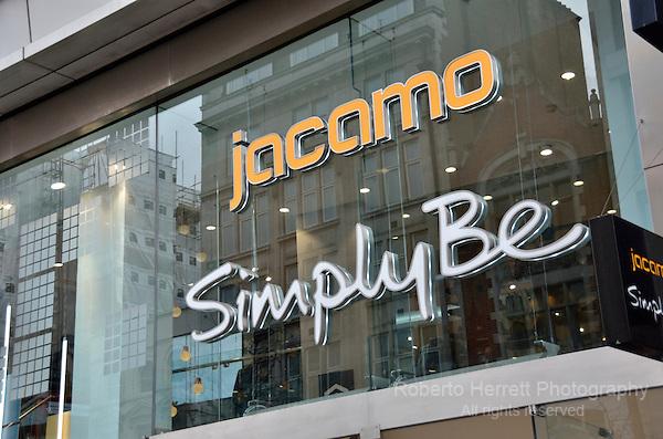 Jacamo fashion retailer in Oxford Street, London, UK.