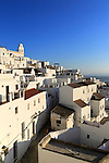 Pueblo blanco historic village whitewashed houses  hillside, Vejer de la Frontera, Cadiz Province, Spain