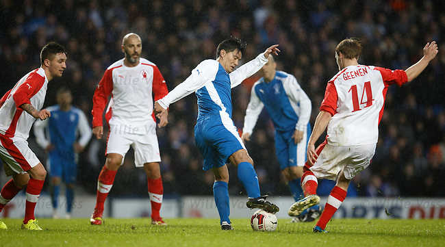 Michael Mols with one of his trademark turns