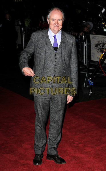 "JIM BROADBENT .Attending the 54th BFI London Film Festival Screening of ""Another Year"", Vue West End, Leicester Square, London, England, October 18th 2010..full length wool suit grey gray purple blue tie waistcoat .CAP/CAN.©Can Nguyen/Capital Pictures."