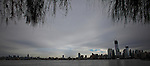 United States, New Jersey. General view of the One World Trade Center and Empire State after the pass of the nor'easter winter storm from Newport in New Jersey. 08/11/2012. Photo by Eduardo Munoz Alvarez / VIEWpress.
