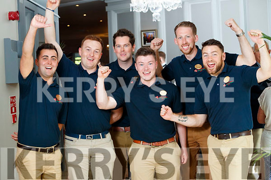 Kerry Escorts at the Rose Hotel, Tralee on Tuesday were from left: Sean O'Connor, Waterville, Shane Thornton, Listowel, Niall O'Hara, Camp, Jackie Healy Rae, Kilgarvan, Joseph Meehan, Tralee and Thomas Lynch, Castleisland.