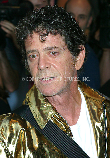 "Opening night for Broadway's newest and hottest show, ""Hairspray"" at Neil Simon Theatre. New York, August 15, 2002. Pictured is Lou Reed. Please byline: Alecsey Boldeskul/NY Photo Press.   ..*PAY-PER-USE*      ....NY Photo Press:  ..phone (646) 267-6913;   ..e-mail: info@nyphotopress.com"