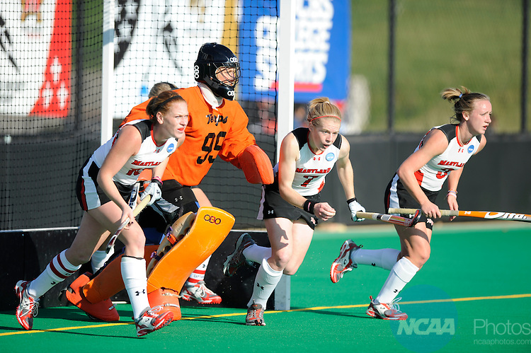 23 NOV 2008:  The University of Maryland takes on Wake Forest University during the Division I Women's Field Hockey Championship held at Trager Stadium on the University of Louisville campus in Louisville, KY.   Maryland defeated Wake Forest 4-2 for the national title.  Greg Fiume/NCAA Photos