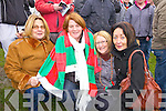 Beal supporters Susane Collins, Syliva Heaphy, Catherine Kennelly and Jennifer Moran at the Bernard O'Callaghan Memorial Senior Football Championship Final last Sunday in Ballylongford.