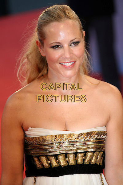 "MARIA BELLO.The 63rd International Venice Film Festival  ""World Trade Center"" Premiere held at Palazzo Del Cinema, Venice, Italy..September 1st, 2006.Ref: ADM/ZL.headshot portrait strapless black gold cleavage.www.capitalpictures.com.sales@capitalpictures.com.©Zach Lipp/AdMedia/Capital Pictures."