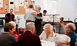 "WATERTOWN, CT 21_NEW_122017JS03-- Paval Marcisk and Hannalore Werling, dance to the music of The Boogie Boys, Nick Longo of Waterbury left, and Larry ""Buzz"" Fallstrom of Prospect, during the annual holiday party held Wednesday at the Falls Avenue Senior Center in Watertown. <br />