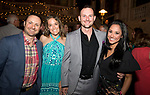WATERBURY, CT-053118JS06--  Mark and Erin Izzo of Canton, left, with Brandon and Teresa Dufour of Middlebury, at STAGES, the Palace Theater's 12th Annual Wine Dinner held at the Palace Theater in Waterbury. The event  benefits the Palace Theater Annual Campaign.  <br /> Jim Shannon Republican American
