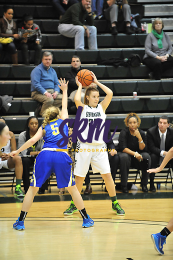 Stevenson women's basketball defeated the Widener Pride 75-53 Tuesday evening at Owings Mills Gymnasium on the campus of Stevenson University.