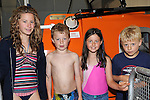 Shauna, Harry and Dominic Arthur and Orla Shortt pictured at the Clogherhead Lifeboat station open day. Photo: Colin Bell/pressphotos.ie