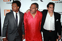 NEW YORK, NY September 28, 2017 J. Quinton Johnson, Laurence Fishburne, Yul Vazquez attend 55th New York Film Festival opening night premiere of Last Flag Flying at Alice Tully Hall Lincoln Center in New York September 28,  2017.Credit:RW/MediaPunch