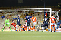 Southend United's Simon Cox scores his side's first goal<br /> <br /> Photographer Rob Newell/CameraSport<br /> <br /> The EFL Sky Bet Championship - Southend United v Blackpool - Saturday 10th August 2019 - Roots Hall - Southend<br /> <br /> World Copyright © 2019 CameraSport. All rights reserved. 43 Linden Ave. Countesthorpe. Leicester. England. LE8 5PG - Tel: +44 (0) 116 277 4147 - admin@camerasport.com - www.camerasport.com