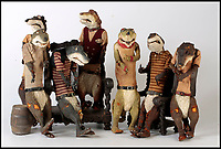 BNPS.co.uk (01202 558833)<br /> Pic:   Dukes/BNPS<br /> <br /> Wind in the Willows character 'Weasel'.<br /> <br /> The original figures from the childhood classic film Wind in the Willows have emerged for sale for £10,000.<br /> <br /> Twenty five figures will go under the hammer including the four main characters, Badger, Toad, Mole and Ratty.<br /> <br /> They were used in the 1983 animation film and subsequent TV show which ran for 52 episodes on ITV from 1984 to 1988.<br /> <br /> The beloved film, in which Chief Weasel was voiced by David Jason, won a BAFTA for 'best children's programme' and an international Emmy.