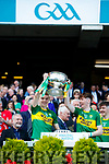 Dylan Casey and Michael Slattery Kerry Minors celebrate with the Tom Markham Cup after defeating Derry in the All-Ireland Minor Footballl Final in Croke Park on Sunday.