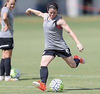 Houston, TX - Friday Oct. 07, 2016: Diana Matheson during training prior to the National Women's Soccer League (NWSL) Championship match between the Washington Spirit and the Western New York Flash at BBVA Compass Stadium.
