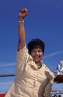 © Eric Miller / Panos Pictures..SOUTH AFRICA..Winnie Mandela in triumphant pose.