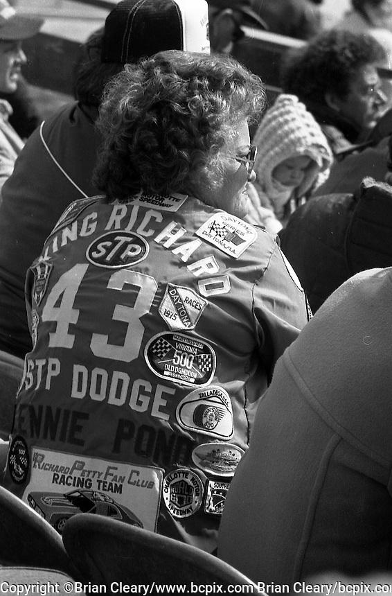 Richard Petty Lennie Pond race fan jacket Daytona 500 at Daytona International Speedway in Daytona Beach, FL in February 1985. (Photo by Brian Cleary/www.bcpix.com) Daytona 500, Daytona International Speedway, Daytona Beach, FL, February 1985. (Photo by Brian Cleary/www.bcpix.com)