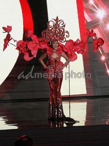 16 December 2015 - Las Vegas, Nevada - Miss Singapore, Lisa Marie White.  2015 Miss Universe Pageant National Costumes. Photo Credit: MJT/AdMedia