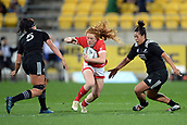 9th June 2017, Westpac Stadium, Wellington, New Zealand; International Womens Rugby; New Zealand versus Canada;  Canada player Alex Tessier in action