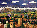 Provence; Roussillion<br /> 18x24 Acrylic on Canvas Original Painting<br /> $7,500
