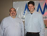 NWA Democrat-Gazette/CARIN SCHOPPMEYER Richard Rubenstein (left) and Kenneth Hobby help support the Miller McNeill Woodruff Foundation.