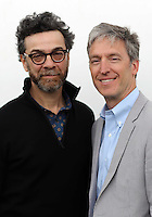 Monday 26 May 2014, Hay on Wye, UK<br /> Pictured L-R: Stephen J. Dubner and Steven D. Levitt. <br /> Re: The Hay Festival, Hay on Wye, Powys, Wales UK.