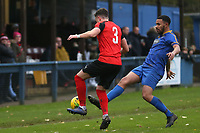 Joseph Claridge of Coggeshall Town  and Phil Roberts of Romford  during Romford vs Coggeshall Town, BetVictor League North Division Football at the Brentwood Centre on 16th November 2019