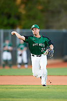 Dartmouth Big Green third baseman Justin Fowler (25) throws to first for the out during a game against the Northeastern Huskies on March 3, 2018 at North Charlotte Regional Park in Port Charlotte, Florida.  Northeastern defeated Dartmouth 10-8.  (Mike Janes/Four Seam Images)