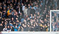 Wycombe supporters during the Sky Bet League 2 match between Portsmouth and Wycombe Wanderers at Fratton Park, Portsmouth, England on 23 April 2016. Photo by Andy Rowland.
