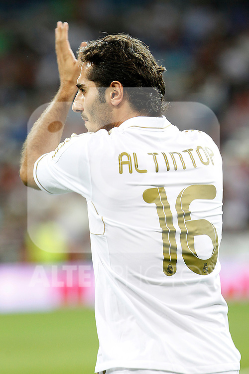 Real Madrid's Hamit Altintop during Santiago Bernabeu Trophy.August 24,2011. (ALTERPHOTOS/Acero)