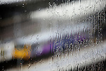Pix: Shaun Flannery/shaunflanneryphotography.com...COPYRIGHT PICTURE>>SHAUN FLANNERY>01302-570814>>07778315553>>..1st October 2010...........A train pulls into Sheffield railway station during a torrential rain storm.