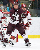 Chris Wagner (Colgate - 23), Ryan Grimshaw (Harvard - 6) - The Harvard University Crimson defeated the visiting Colgate University Raiders 4-2 on Saturday, November 12, 2011, at Bright Hockey Center in Cambridge, Massachusetts.
