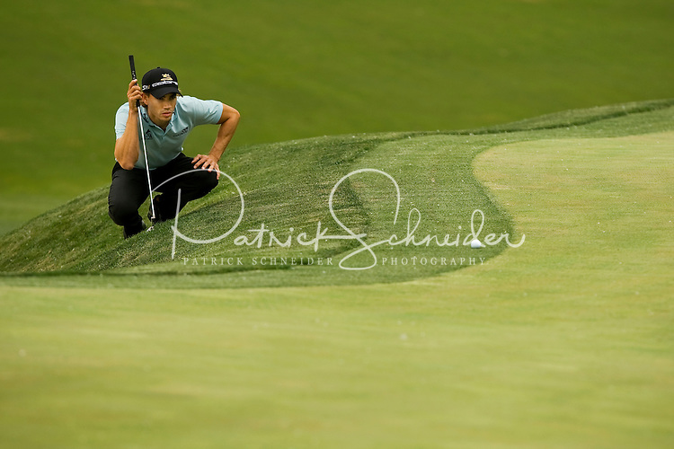 Golfer Camilo Villegas works the course during the Quail Hollow Championship golf tournament 2009. The event, formerly called the Wachovia Championship, is a top event on the PGA Tour, attracting such popular golf icons as Tiger Woods, Vijay Singh and Bubba Watson. Photo from the second round in the Quail Hollow Championship golf tournament at the Quail Hollow Club in Charlotte, N.C., Friday, May 01, 2009..