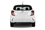 Straight rear view of 2016 Chevrolet Spark LS Manual 1SA 5 Door Hatchback Rear View  stock images