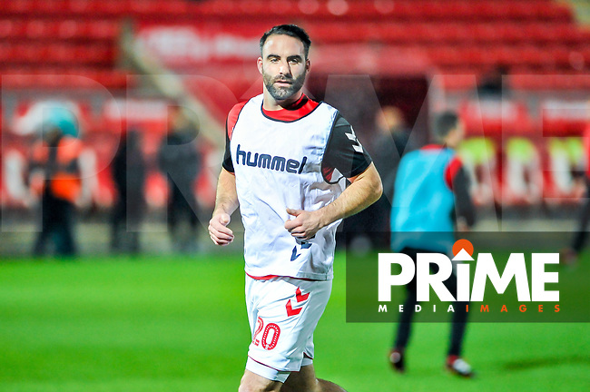 Fleetwood Town's defender Craig Morgan (20) during the Sky Bet League 1 match between Fleetwood Town and Coventry City at Highbury Stadium, Fleetwood, England on 27 November 2018. Photo by Stephen Buckley / PRiME Media Images.