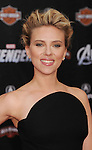 HOLLYWOOD, CA - APRIL 11: Scarlett Johansson attends the World premiere of 'Marvel's Avengers' at the El Capitan Theatre on April 11, 2012 in Hollywood, California.