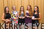 Emma Godley, Rachel Bowler, Aoibheann O'Brien, Aoife O'Carroll, Jenny Godley at the Harriers Gala Dinner Awards Night in the Manor West Hotel on Friday