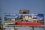 Carpenters  billboard on the Sunset Strip in Los Angeles, California circa 1973