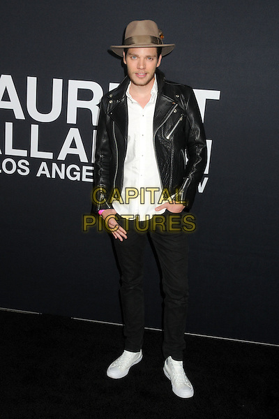 10 February 2016 - Los Angeles, California - Dominic Sherwood. Saint Laurent At The Palladium held at the Hollywood Palladium. <br /> CAP/ADM/BP<br /> &copy;BP/ADM/Capital Pictures